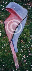 Figura femminile: Rosso e blu